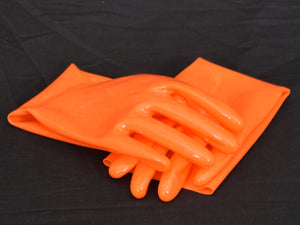 Orange Gloves (Wrist Length)