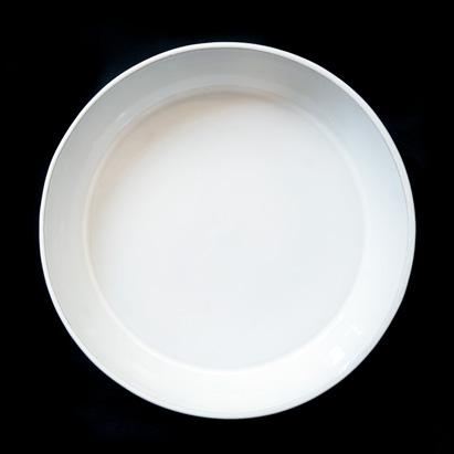 SALAD PLATE NEO; Crystal White