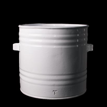 CACHARRO LARGE CANISTER; Crystal White