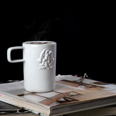 NEO NATIONAL COAT OF ARMS MUG; White crystal