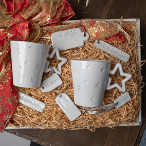 STAR MUG; Crystal White