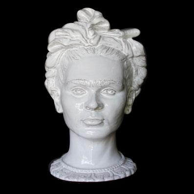 MEXICAN WOMAN FLOWER BASE; White crystal