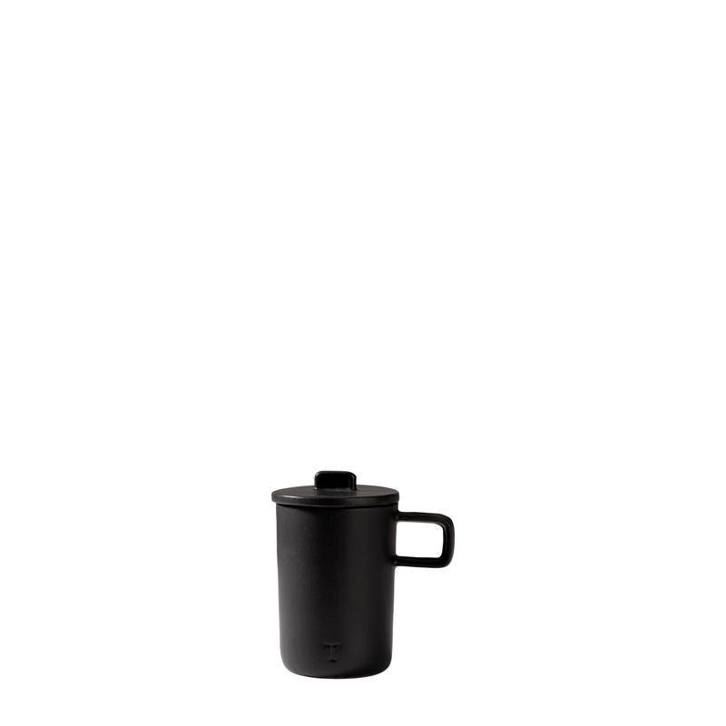 COFFE CUP  W/COVER NEO; Onix Negro;