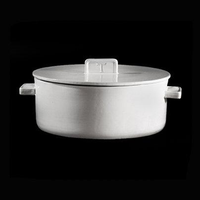 NEO LARGE SOUP BOWL W/LID; Crystal White