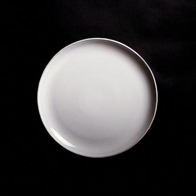 NEO SALAD PLATE; Crystal White
