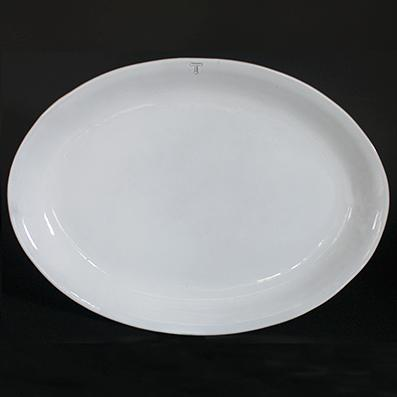 NEO SERVING PLATE; Crystal White