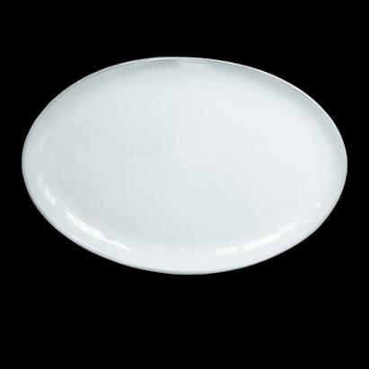 NEO OVAL SERVING PLATE; Crystal White