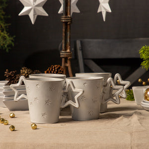 STAR MUG  Crystal White