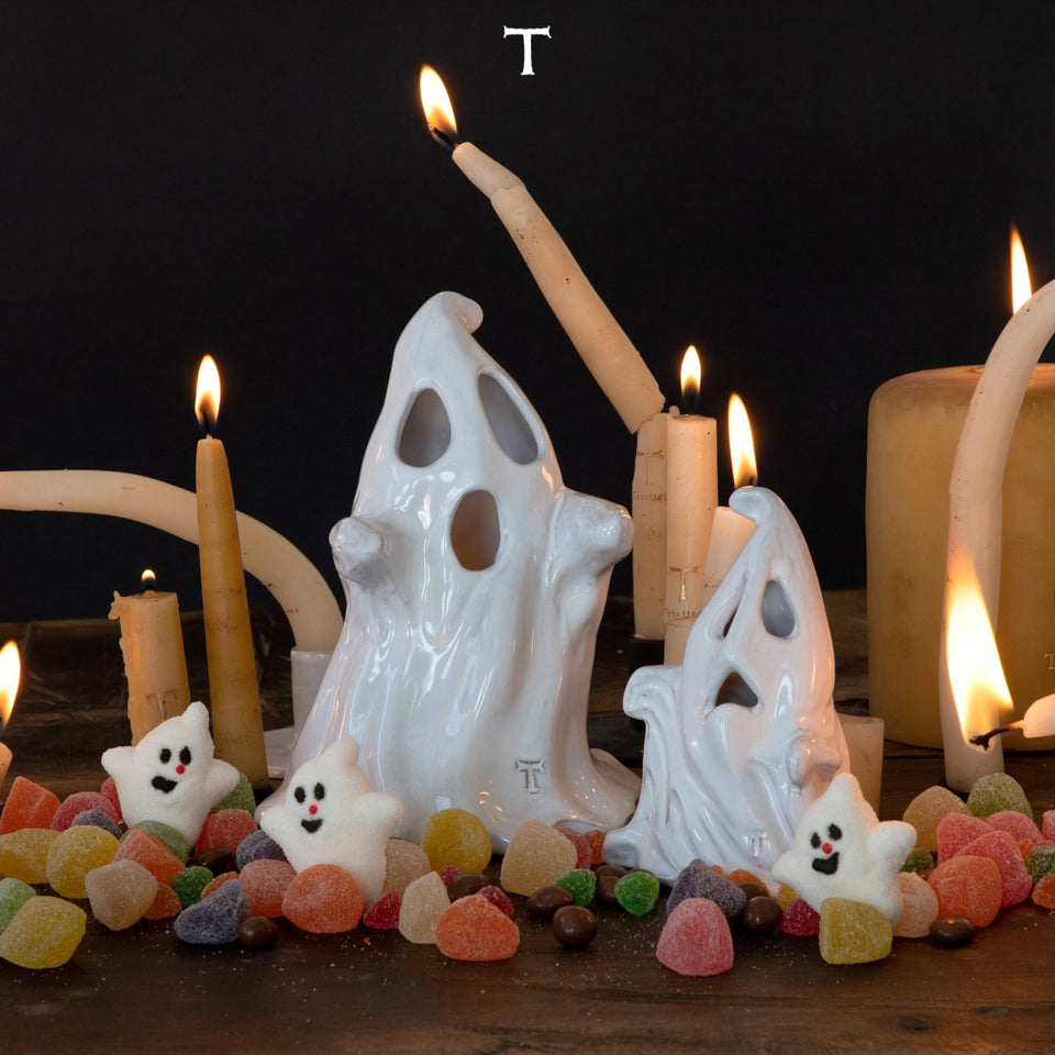 SET OF 2 GHOSTS; Crystal White