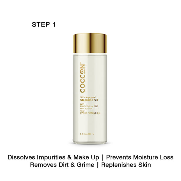 Step 1 - Silk Appeal Cleansing Oil Removes Skin Impurities & Restores Skin