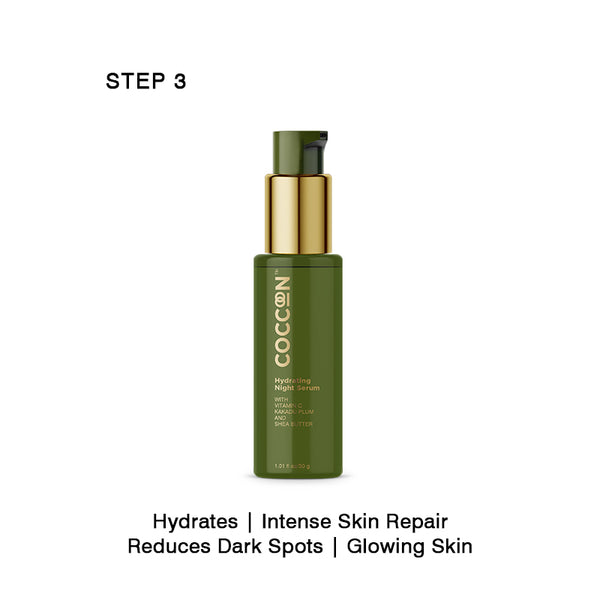 Step 3 - Hydrating Night Serum Repairs Skin, Brightens & Reduces Dark Spots