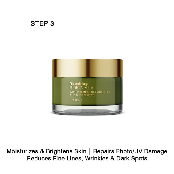 Step 3 - Repairing Night Cream Reduces Fine Lines, Wrinkles and Dark Spots