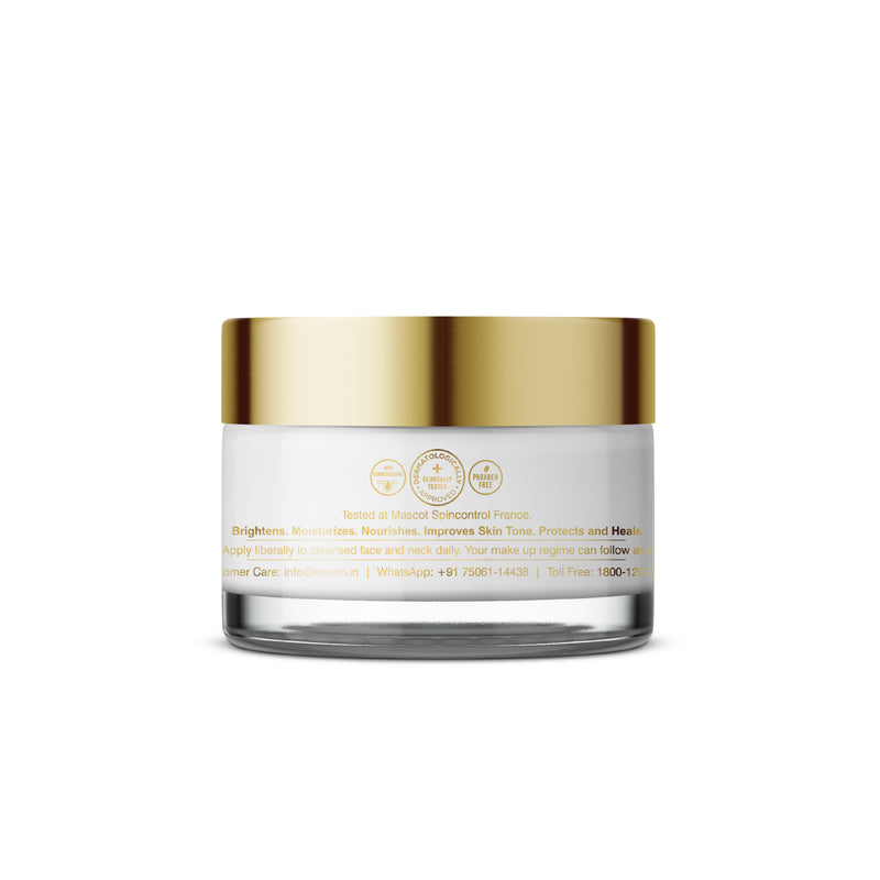 Restoring Day Cream Brightens & Moisturizes, Improves Skin Tone, Protects & Heals