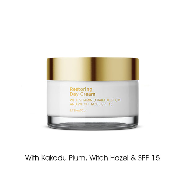 Step 2 - Restoring Day Cream Brightens & Moisturizes, Improves Skin Tone, Protects & Heals
