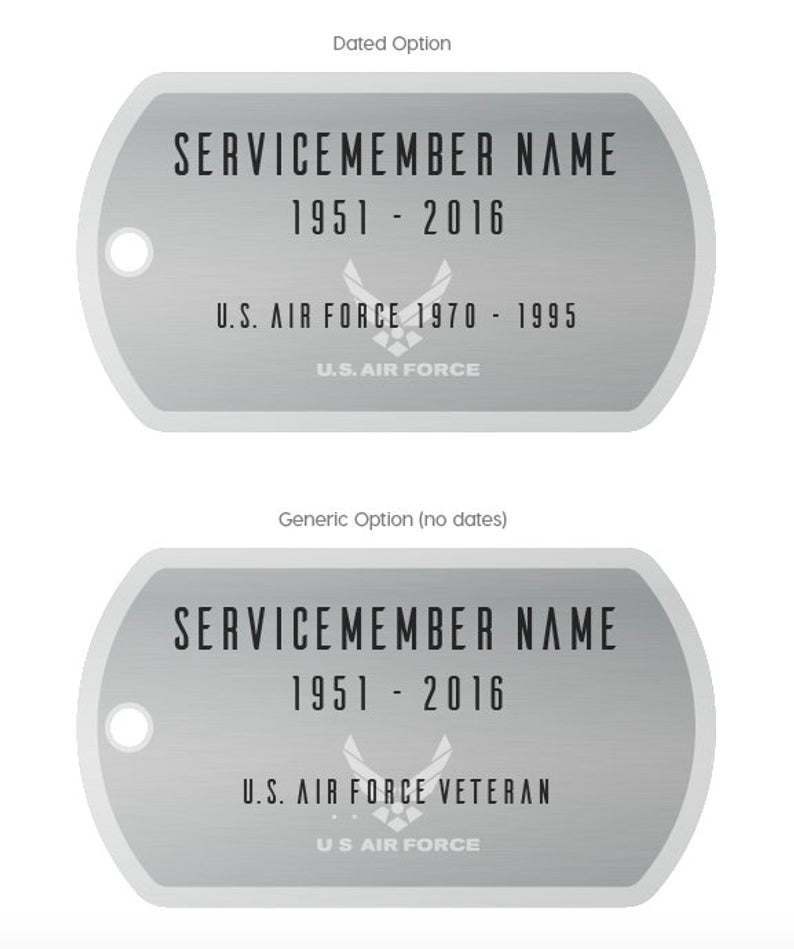 Personalized Armed Forces Memorial Eternal Light