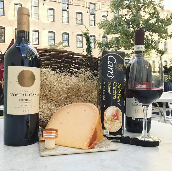 BIN 36 Deluxe Wine & Cheese Basket