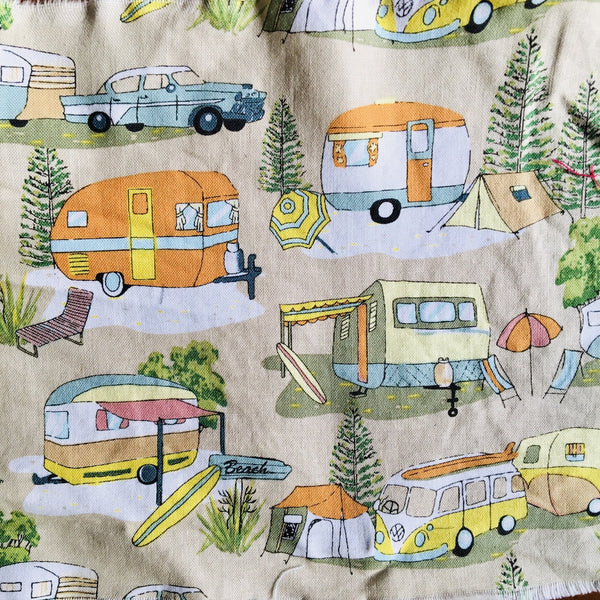 Caravan Camping Combi Van Cotton Face mask - 3 layers