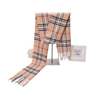 Men's Scarf Men's England Plaid Scarf Cashmere Scarf Long Warm Scarf Shawl Knit Men