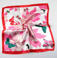 50*50 Elegant Spring Printed Silk Scarf Women Ladies Scarves Professional Small Squares