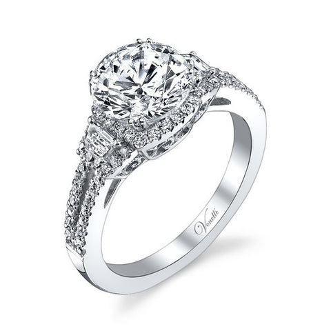 14K W RING 68RD 0.32CT, 2BG 0.11CT