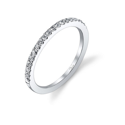 14K W BAND 20RD 0.24CT