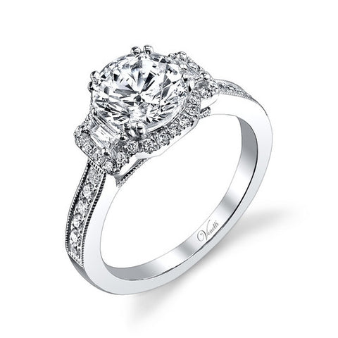 14K W RING 38RD 0.31CT, 2BG 0.15CT