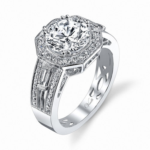 14K W RING 60RD 0.33CT, 2 TAP 0.14CT