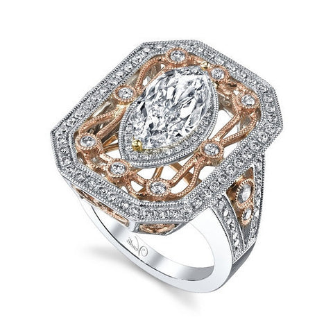 14K RYW RING 112RD 1.08CT