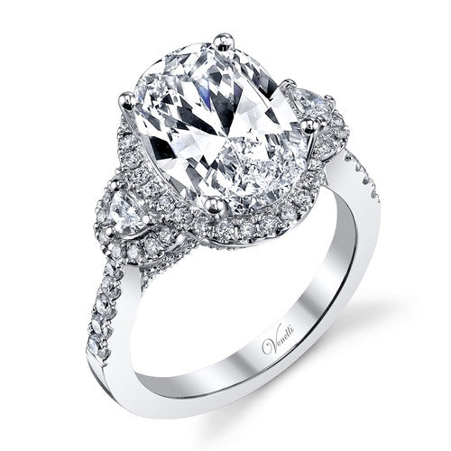 14K W RING 138RD 0.72CT, 2 HM 0.19CT