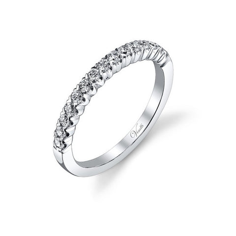 14K WOMEN'S WEDDING BAND 15RD 0.34CT