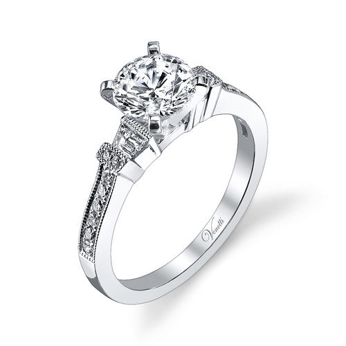 14K W RING 16RD 0.12CT, 2TAP 0.13CT