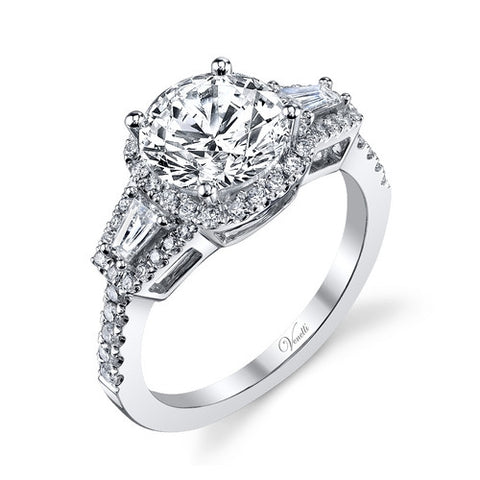 14K W RING 52RD 0.43CT, 2TAP 0.20CT