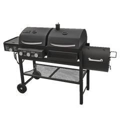 STARRY NIGHT Smoke Hollow 1800CGS Gas/Charcoal/Smoker Grill with Side Burner