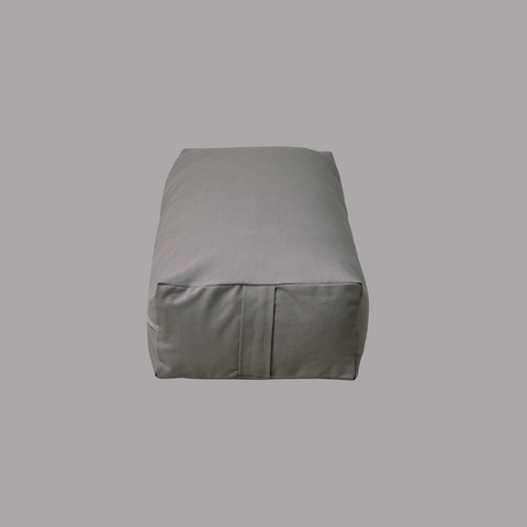 Yoga Bolster Rectangulaire Gris