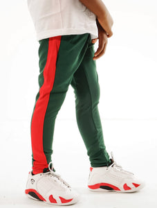 Little Rookie Track Pants- Green