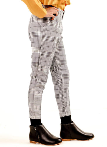 Aubrey Plaid Trouser Pants