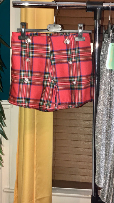 """As If"" Plaid Shorts"