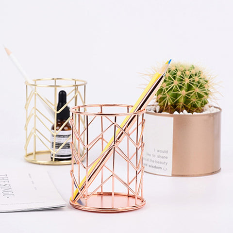 Geometric Pencil Cup - tiredtuesday