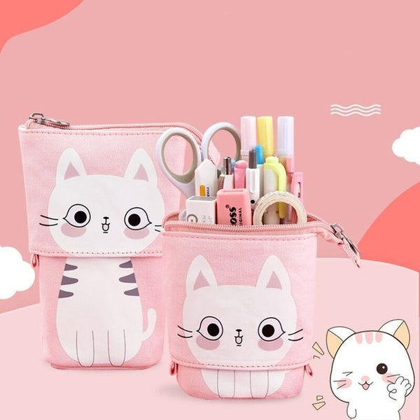 Kitty and Friends Retractable Pencil Case - tiredtuesday