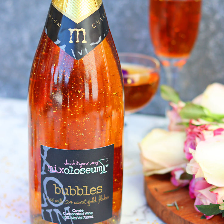 Sparkling Rosé with 24 Carat Gold Flakes - Flaschengeist (Aust) Pty Ltd