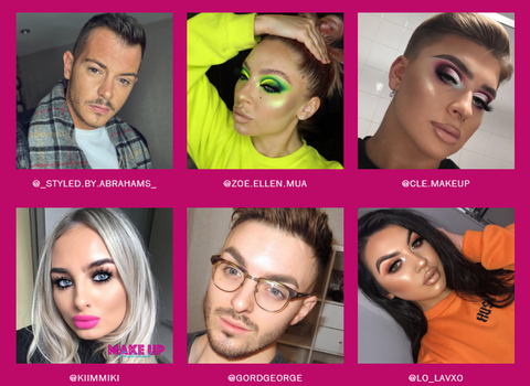 Influencers attending The Makeup Festival
