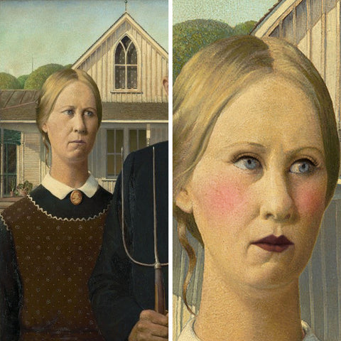 American Gothic (before and after)