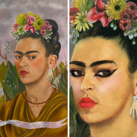 Frida Kahlo (before and after)