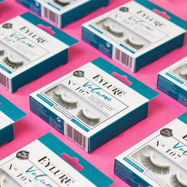 Eylure volume pre glued lashes in style 107
