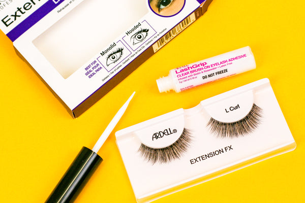 Flatlay of Ardell L Curl lashes