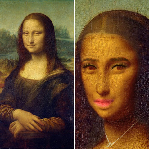 Mona Lisa (before and after)