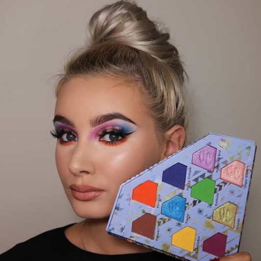 Jo looking colourful in totemic palette