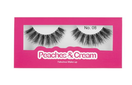 Peaches & Cream lashes in style 8