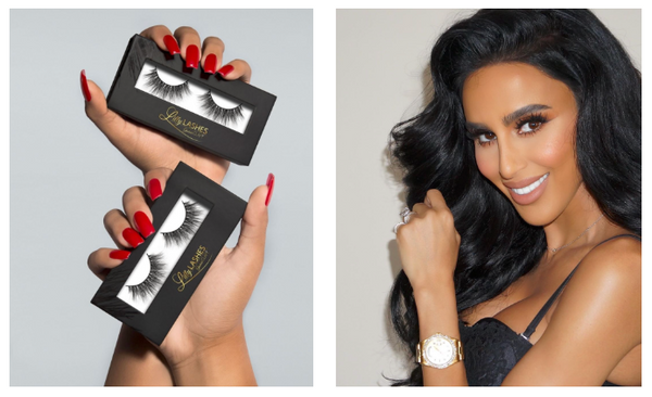 Lilly Ghalichi holiding lilly lashes