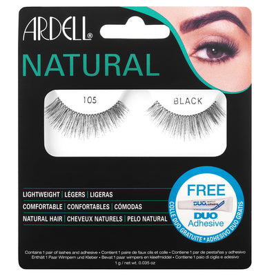 Ardell Fashion Lashes 105 Black (with Glue)